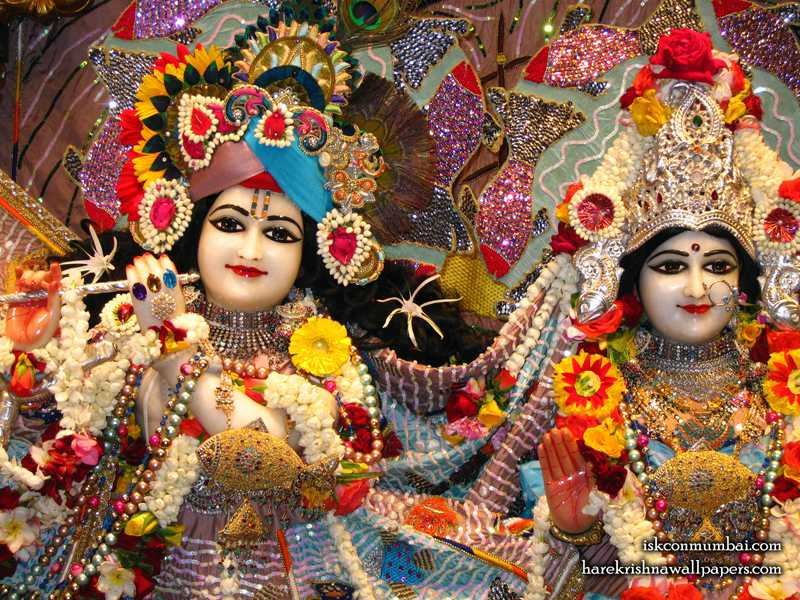 Sri Sri Radha Rasabihari Close up Wallpaper (002)