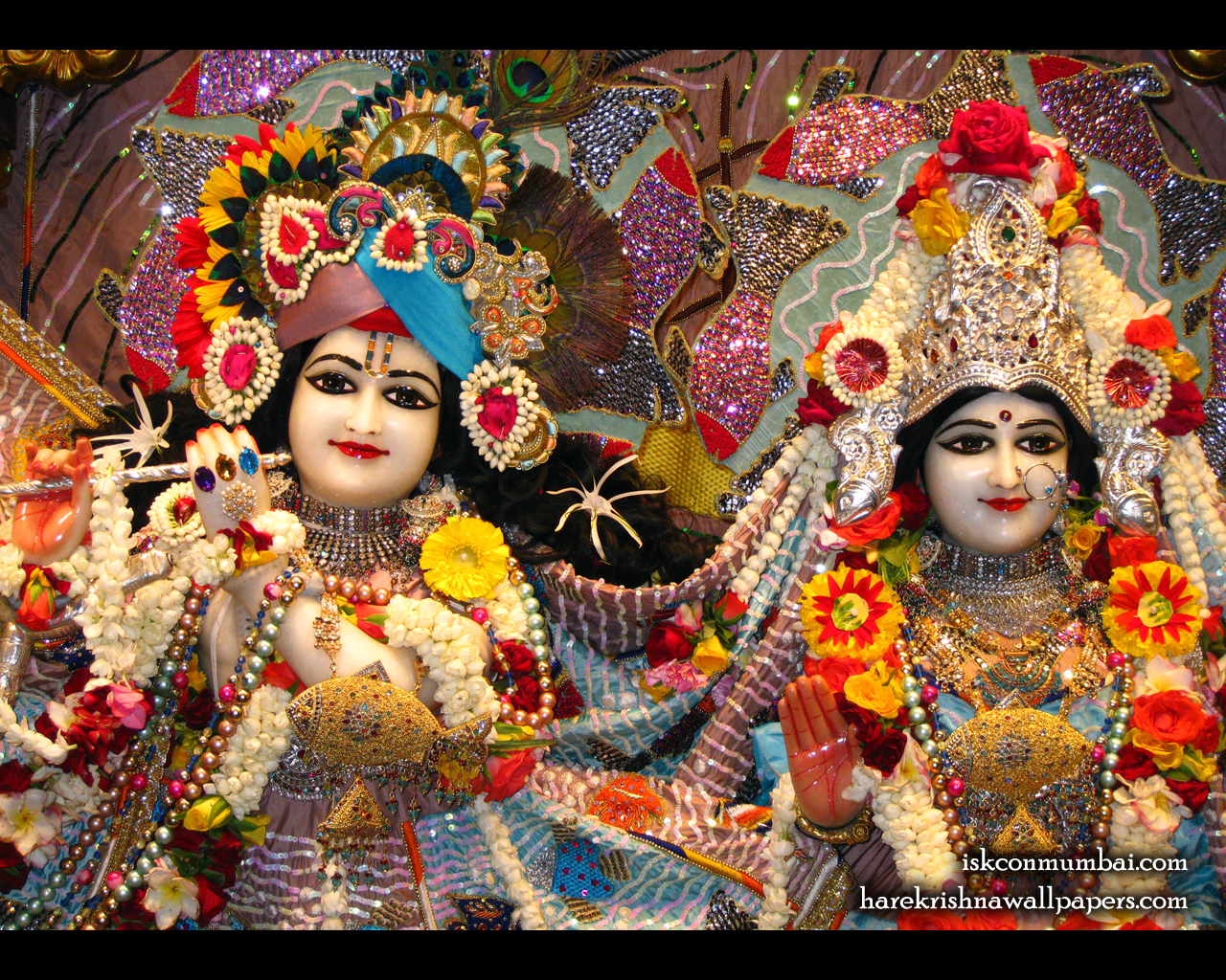 Sri Sri Radha Rasabihari Close up Wallpaper (002) Size 1280x1024 Download