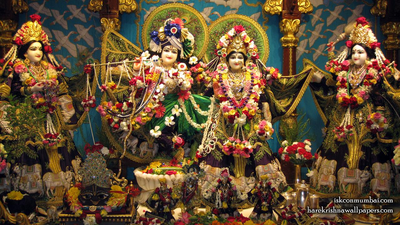 Sri Sri Radha Rasabihari Lalita Vishakha Wallpaper (002) Size1280x720 Download