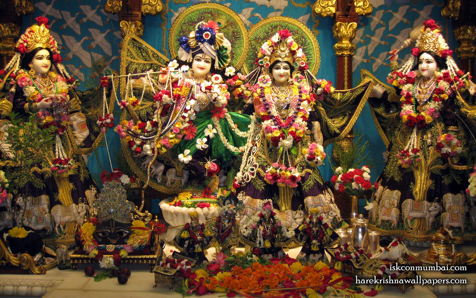 Sri Sri Radha Rasabihari Lalita Vishakha Wallpaper (002) Size 1920x1200 Download
