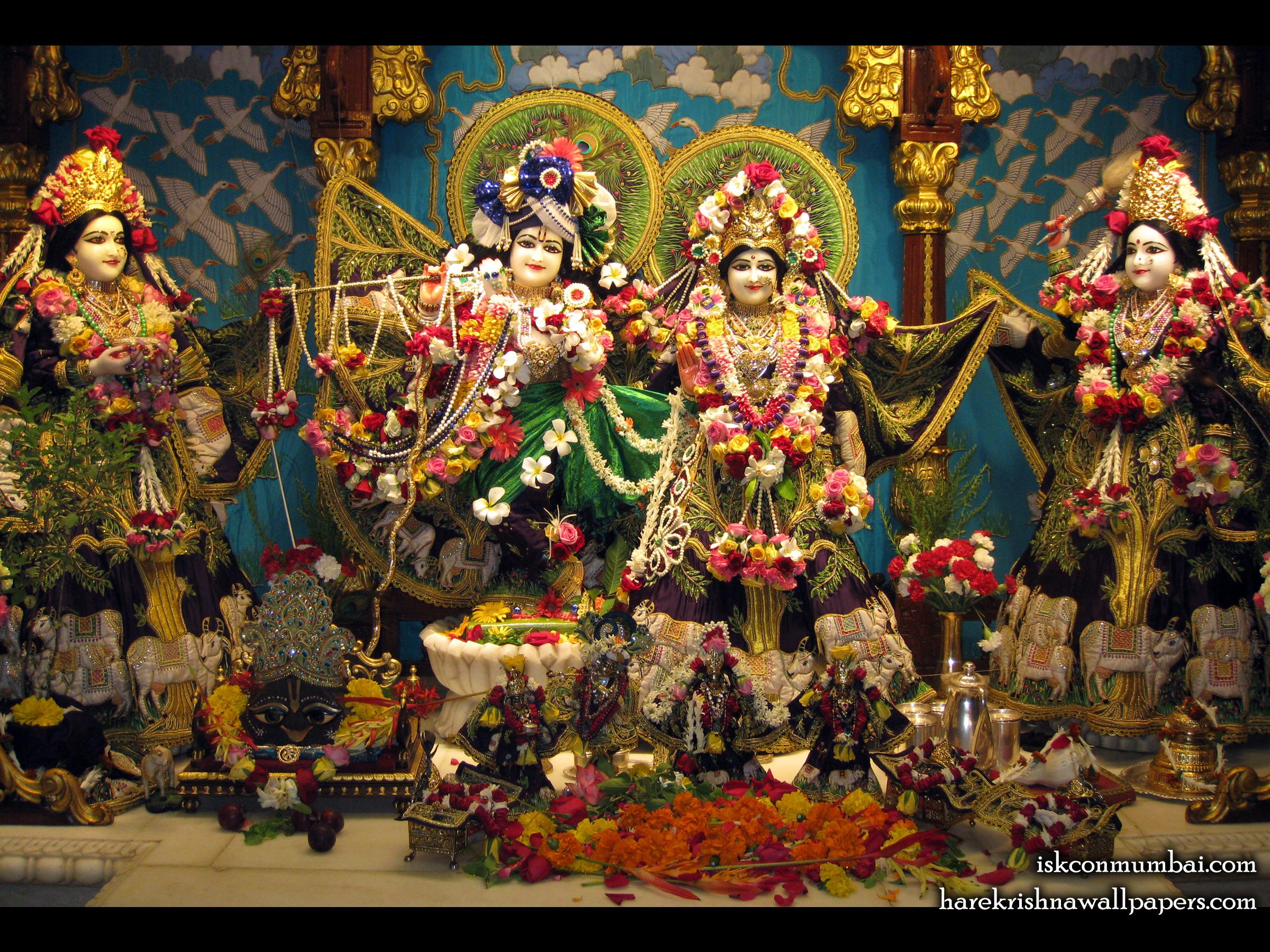 Sri Sri Radha Rasabihari Lalita Vishakha Wallpaper (002) Size 2400x1800 Download