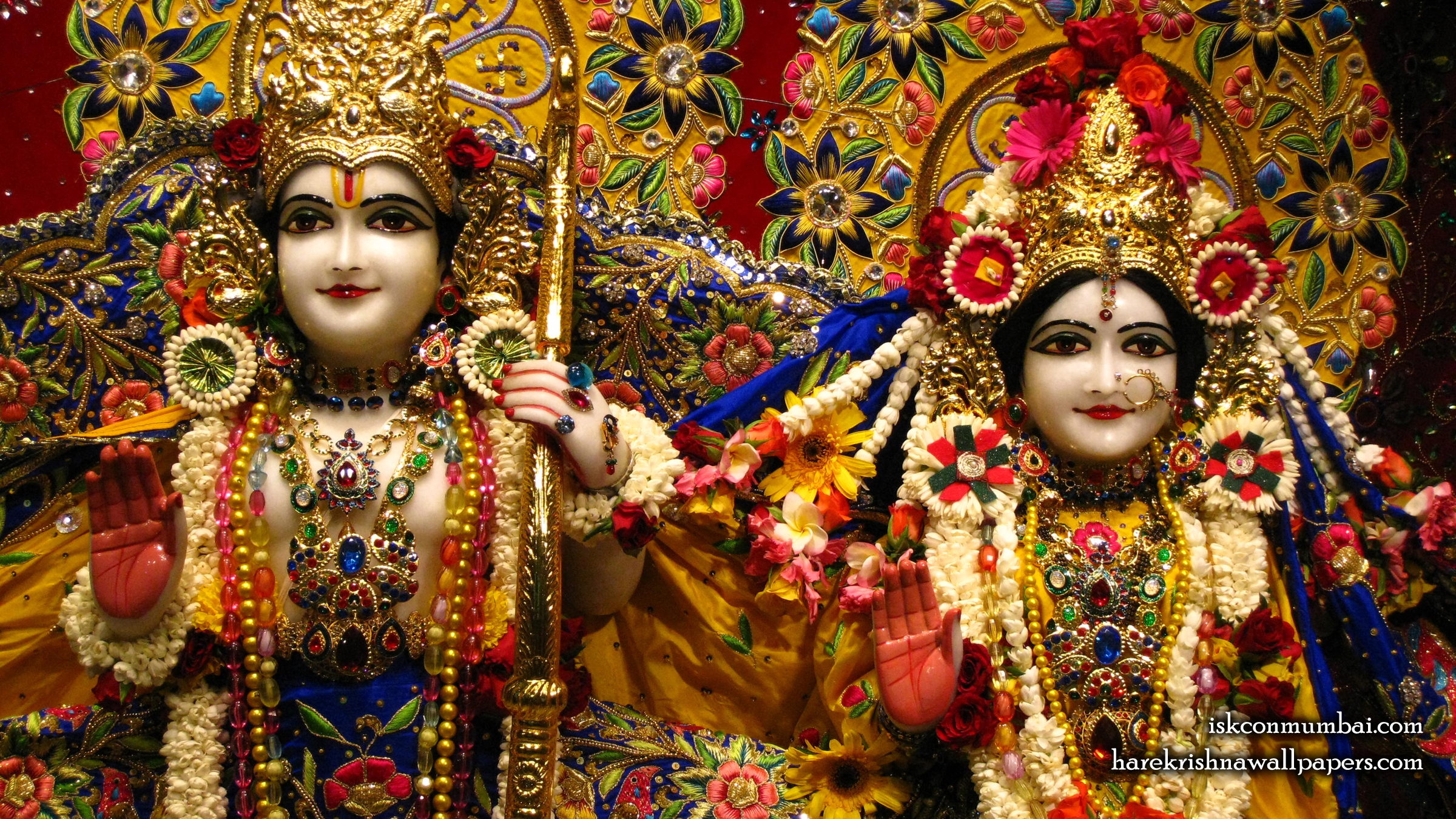 Sri Sri Sita Rama Close up Wallpaper (002) Size 2400x1350 Download