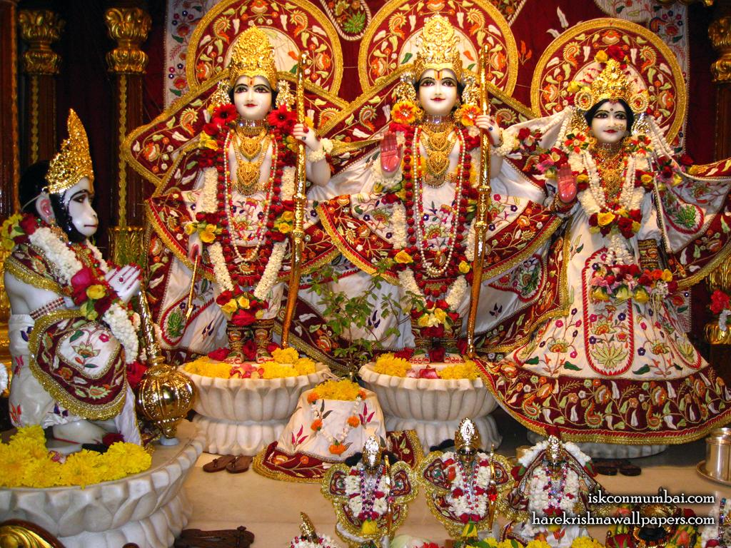 Sri Sri Sita Rama Laxman Hanuman Wallpaper (002) Size 1024x768 Download