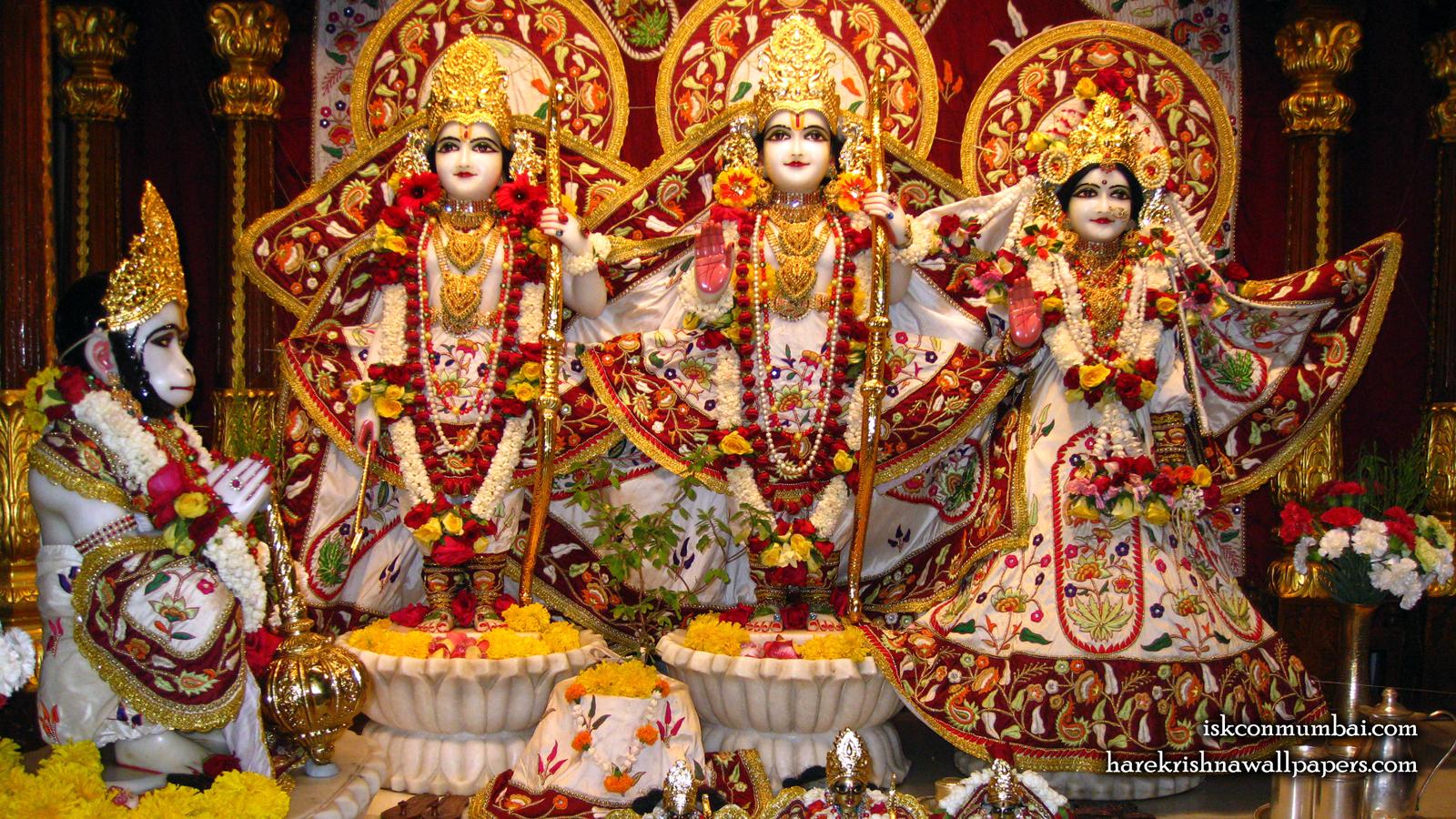 Sri Sri Sita Rama Laxman Hanuman Wallpaper (002) Size 1600x900 Download