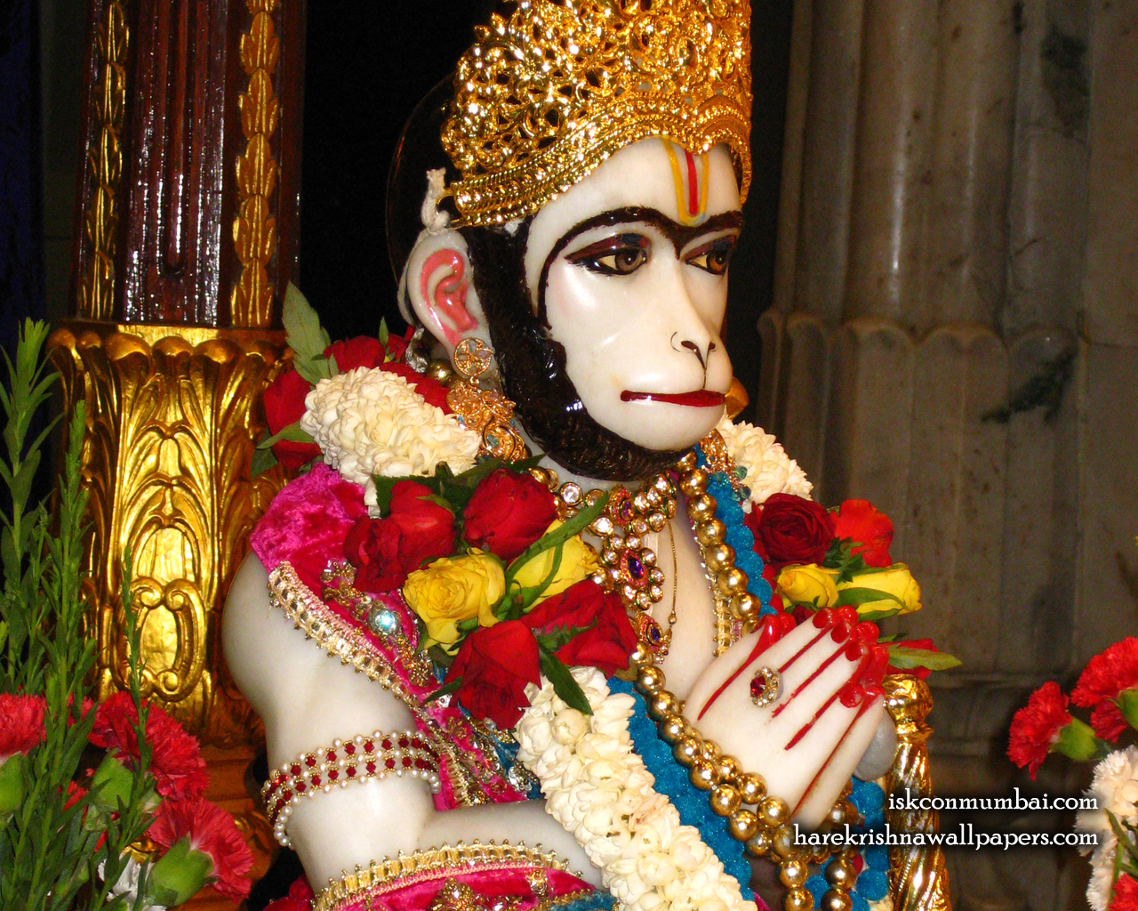 Sri Hanuman Face Wallpaper (003) Size 1280x1024 Download