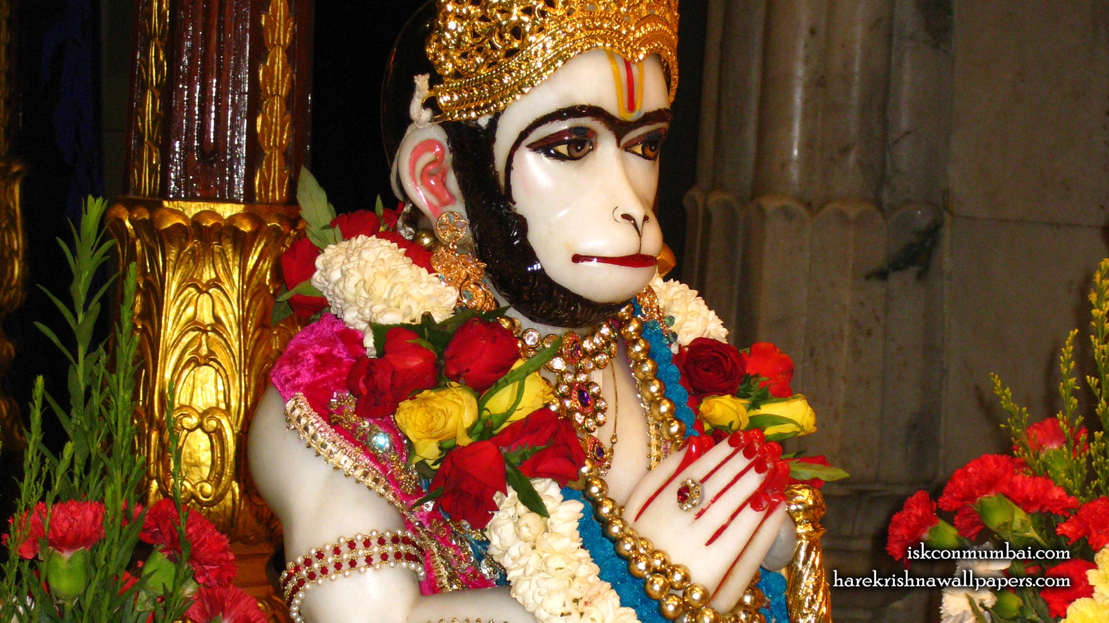 Sri Hanuman Face Wallpaper (003) Size 1600x900 Download