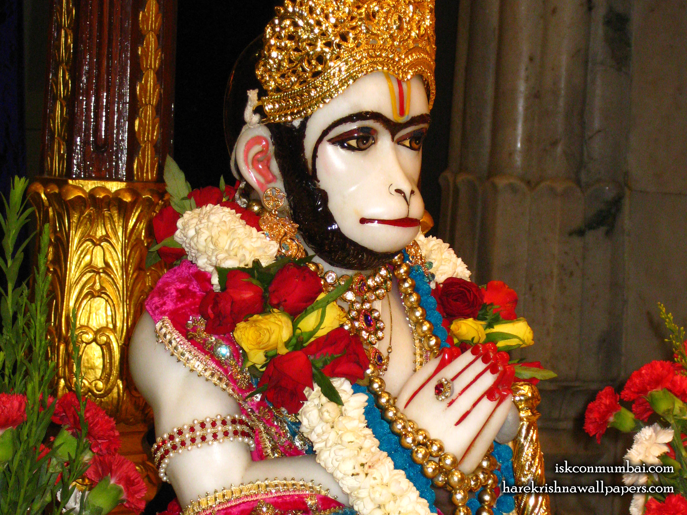 Sri Hanuman Face Wallpaper (003) Size 2400x1800 Download