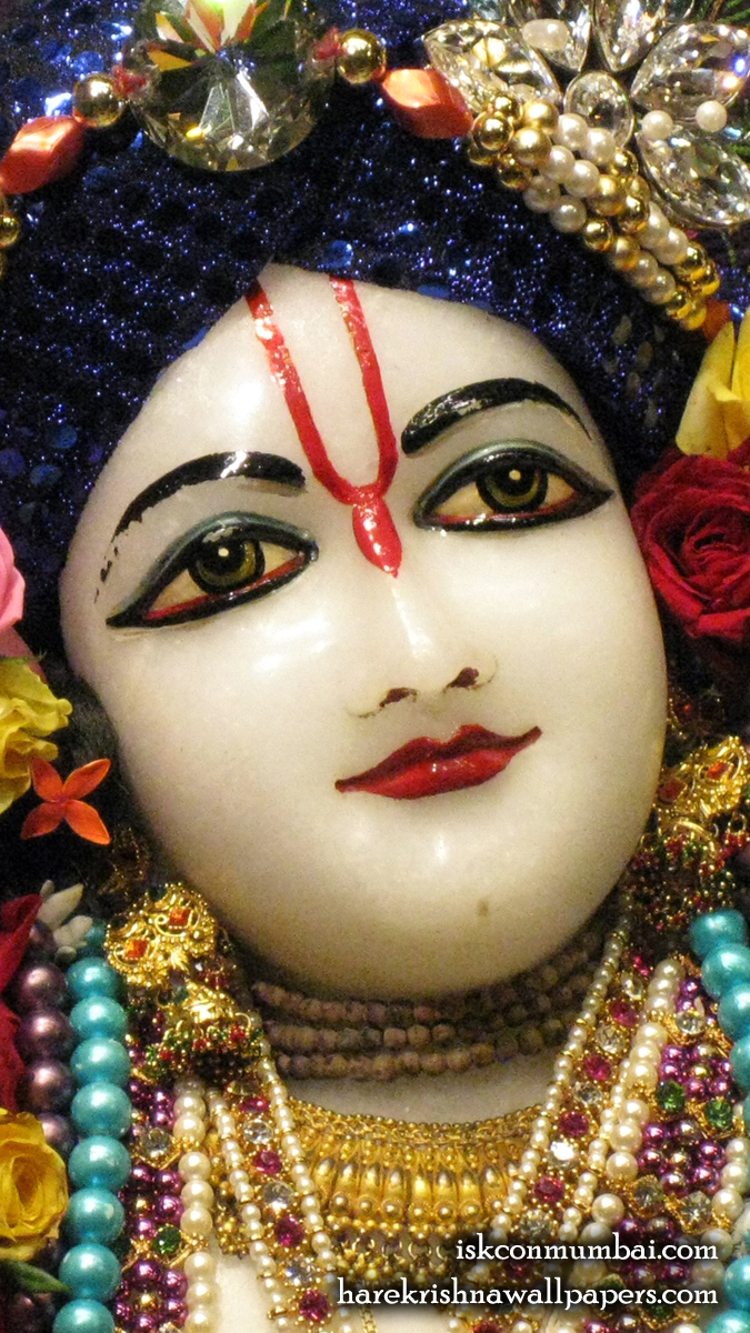 Sri Nitai Face Wallpaper (003) Size 675x1200 Download