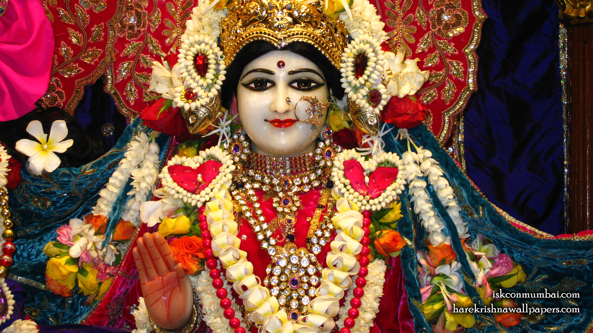Sri Radha Face Wallpaper (003) Size 2400x1350 Download