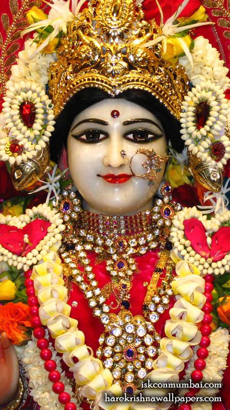 Sri Radha Face Wallpaper (003) Size 450x800 Download