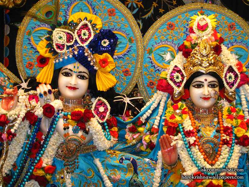 Sri Sri Radha Rasabihari Close up Wallpaper (003)