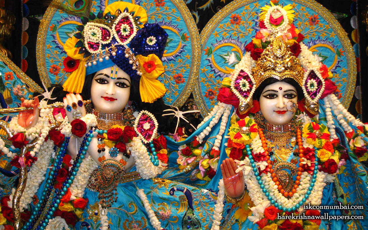 Sri Sri Radha Rasabihari Close up Wallpaper (003) Size 1280x800 Download