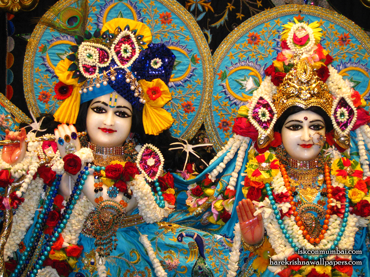 Sri Sri Radha Rasabihari Close up Wallpaper (003) Size 1280x960 Download