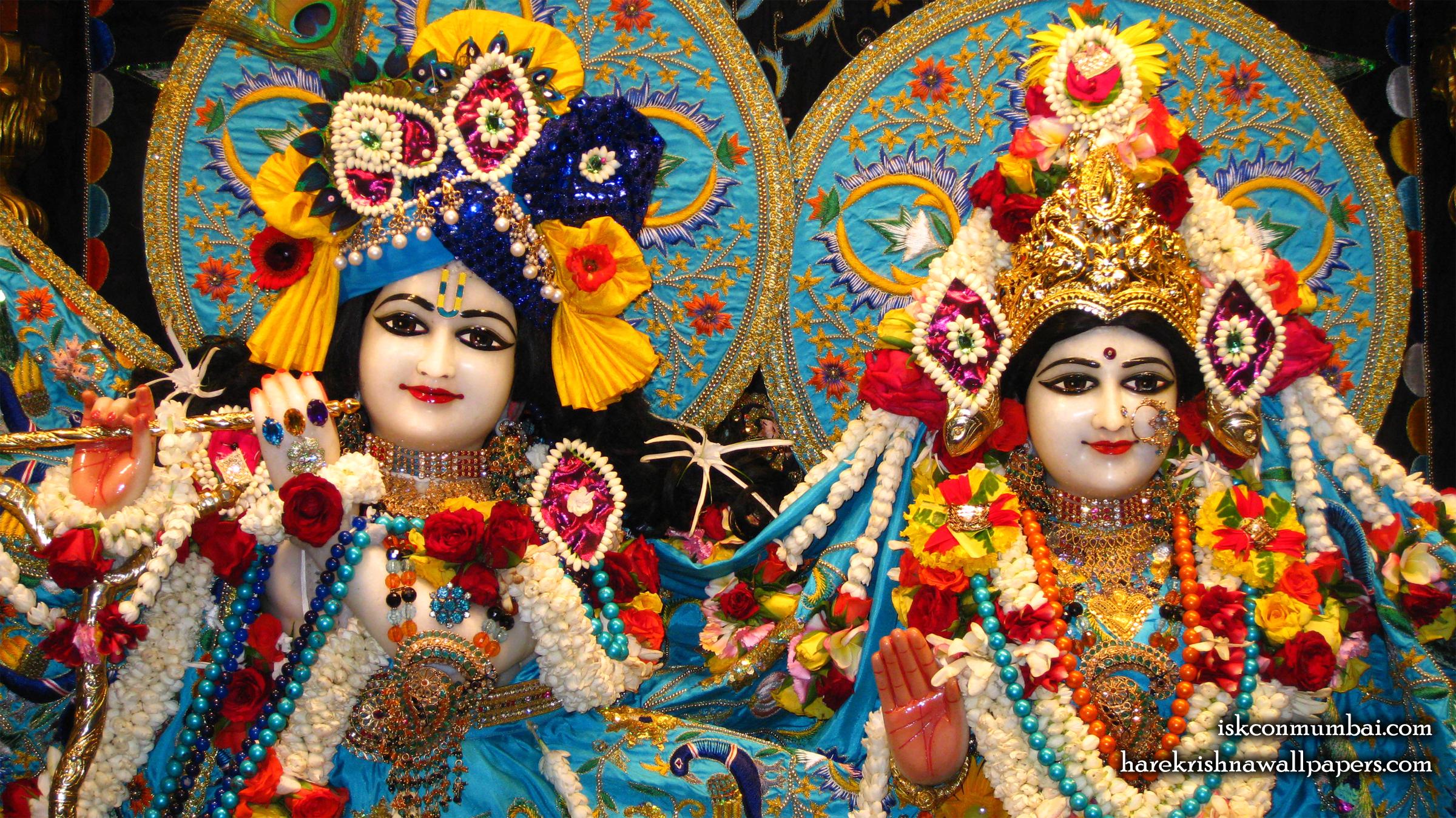 Sri Sri Radha Rasabihari Close up Wallpaper (003) Size 2400x1350 Download
