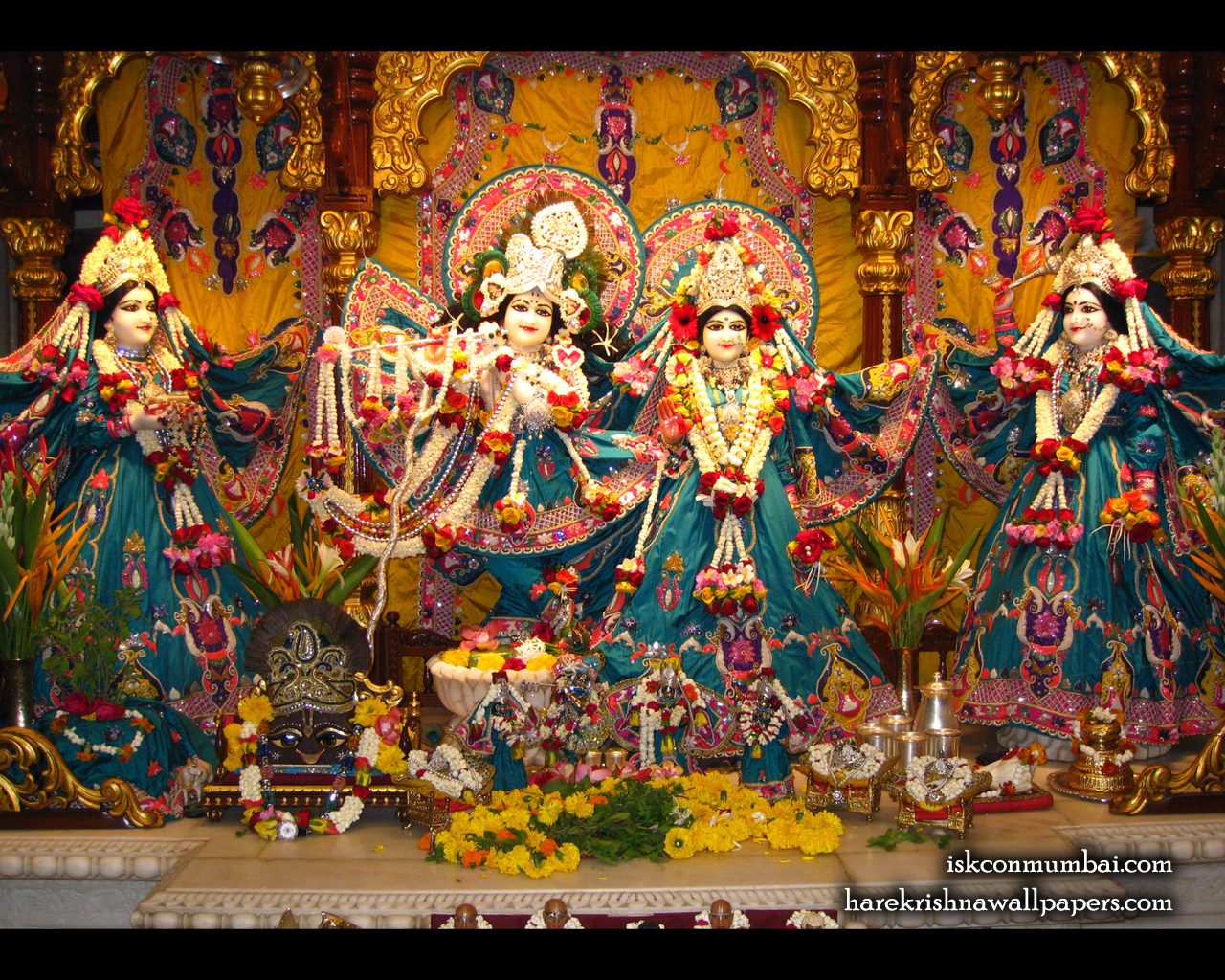 Sri Sri Radha Rasabihari Lalita Vishakha Wallpaper (003) Size 1280x1024 Download