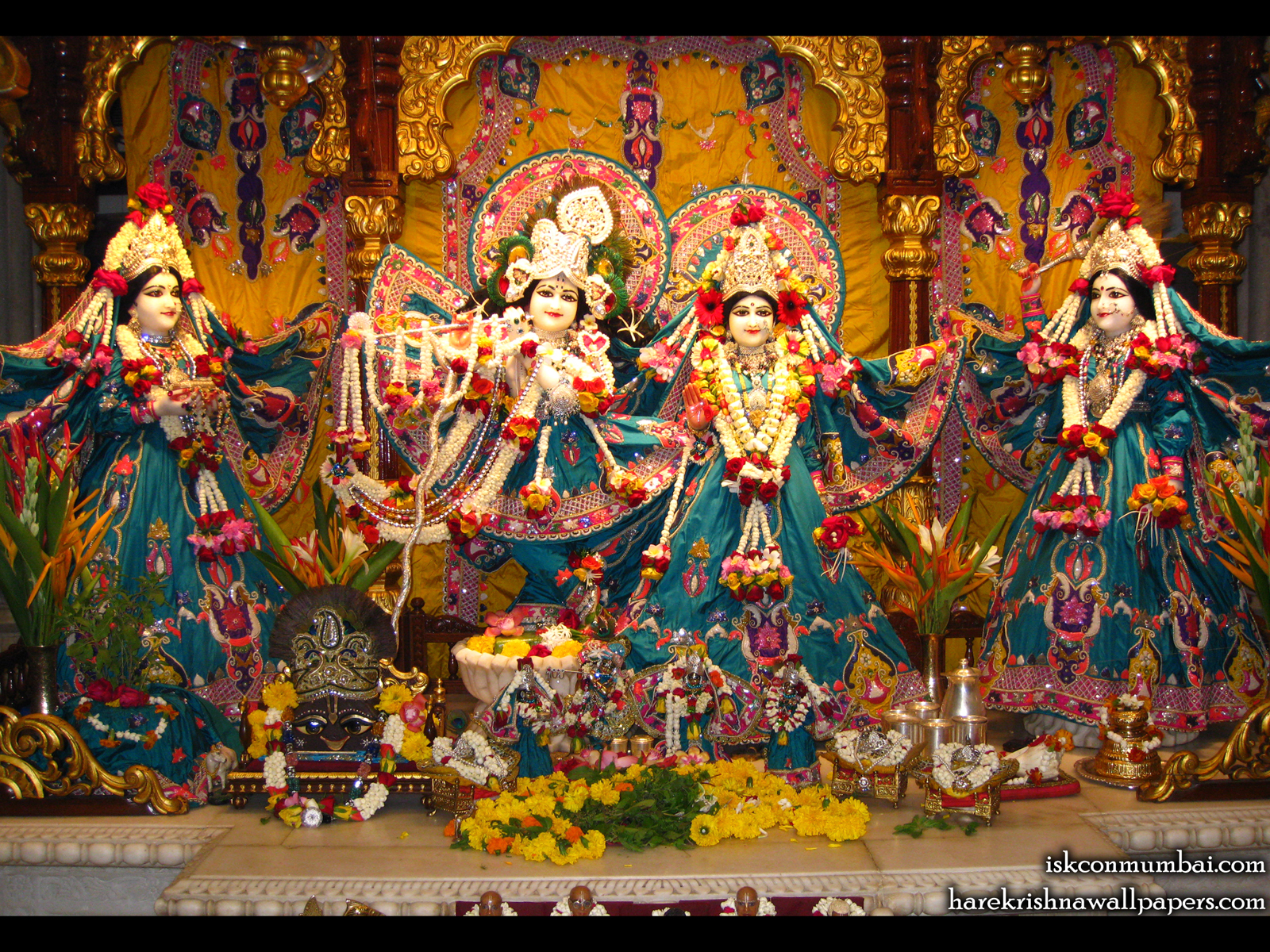 Sri Sri Radha Rasabihari Lalita Vishakha Wallpaper (003) Size1600x1200 Download