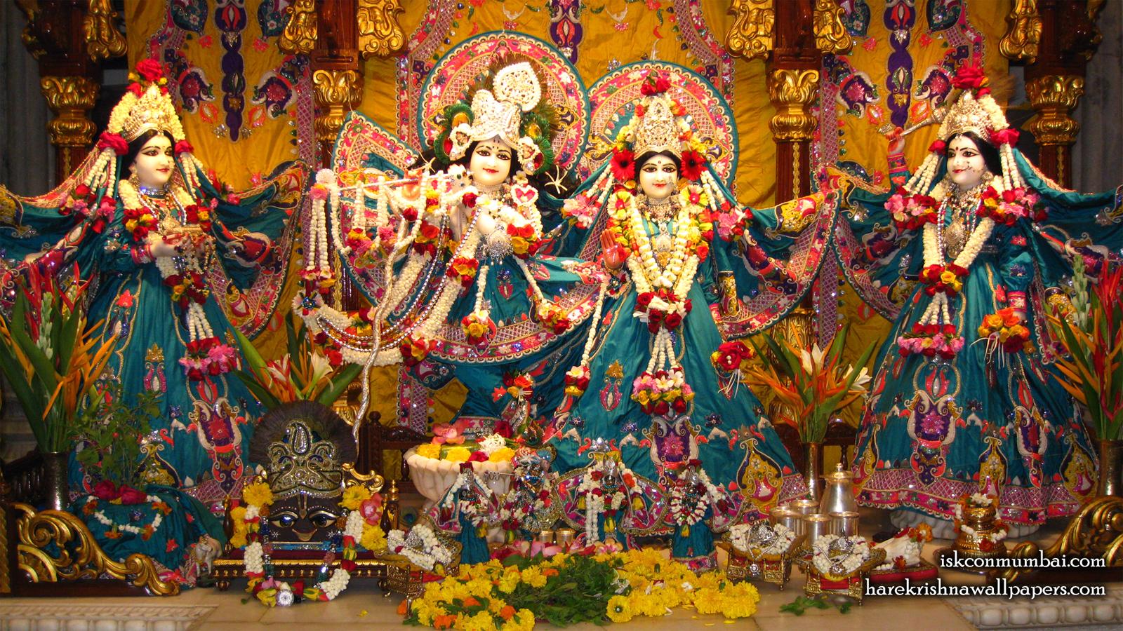 Sri Sri Radha Rasabihari Lalita Vishakha Wallpaper (003) Size 1600x900 Download