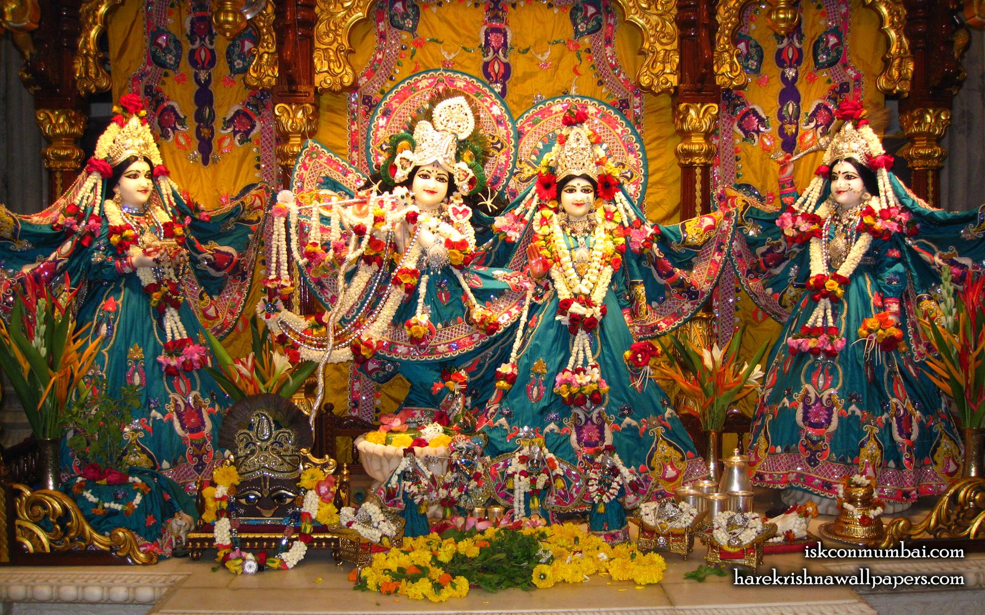 Sri Sri Radha Rasabihari Lalita Vishakha Wallpaper (003) Size 1920x1200 Download