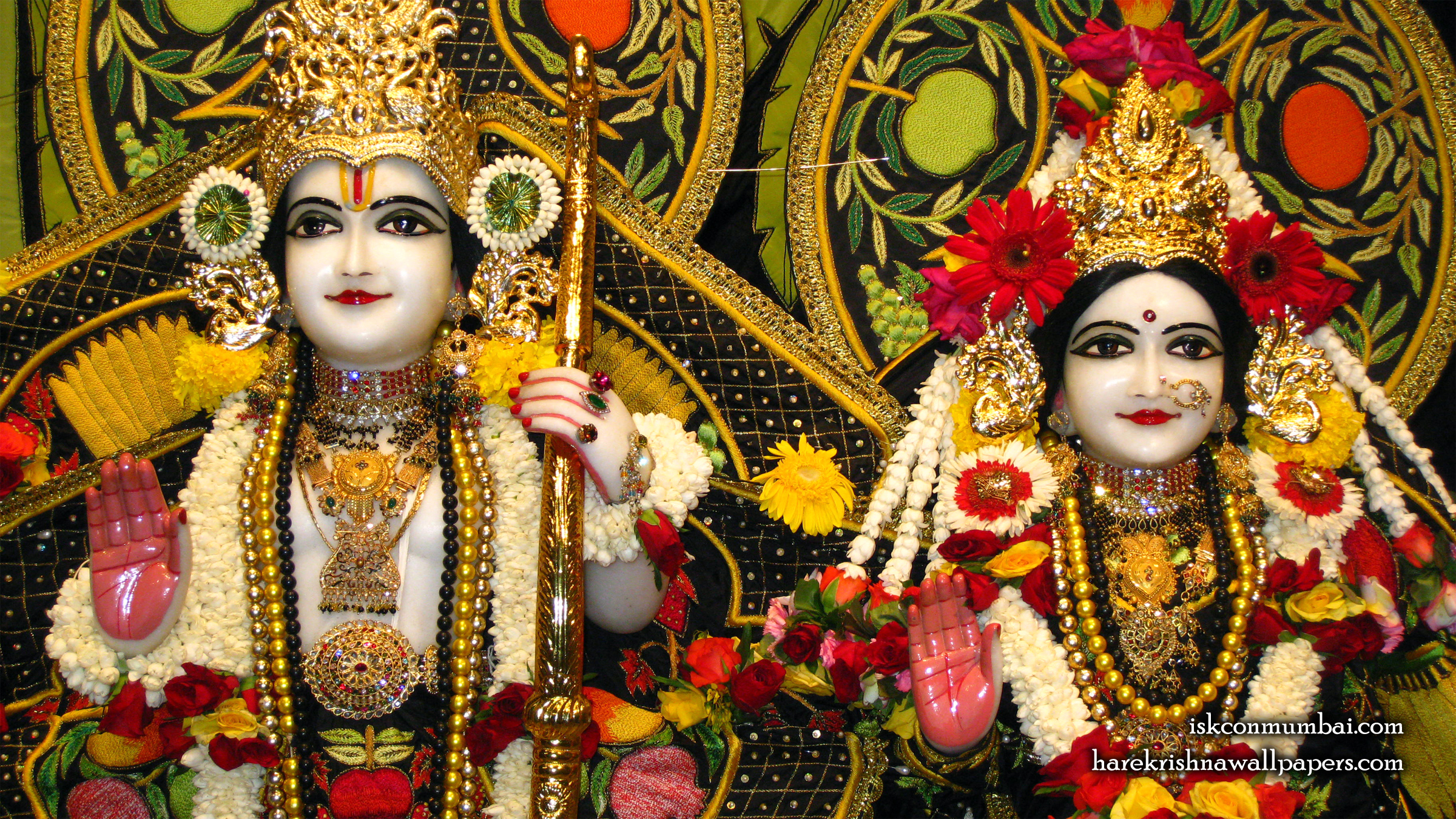 Sri Sri Sita Rama Close up Wallpaper (003) Size 2400x1350 Download