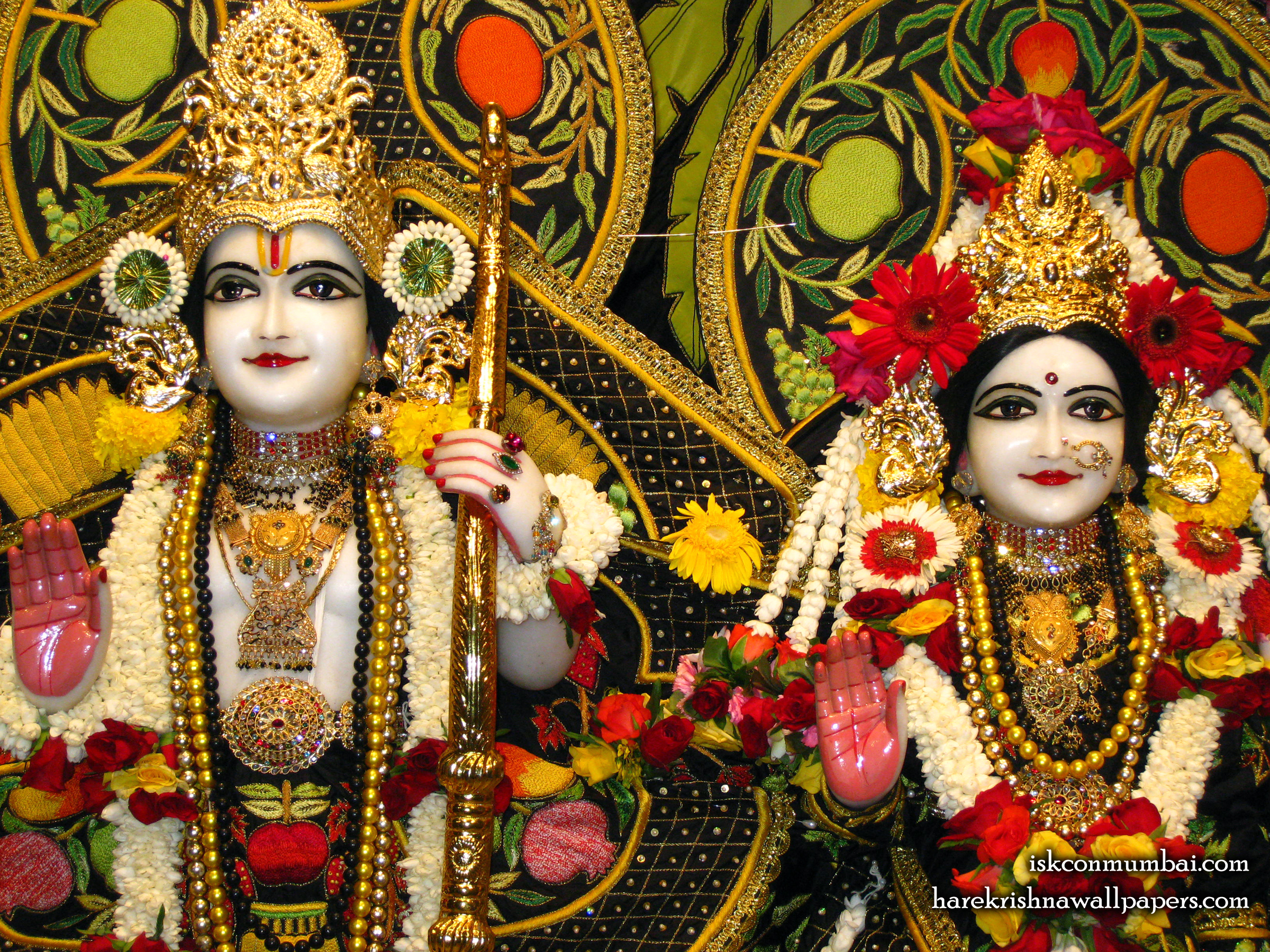 Sri Sri Sita Rama Close up Wallpaper (003) Size 2400x1800 Download