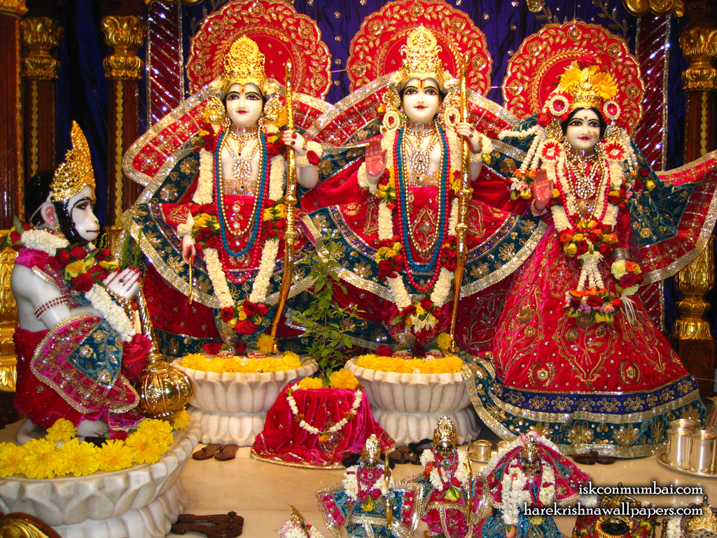 Sri Sri Sita Rama Laxman Hanuman Wallpaper (003) Size 1024x768 Download