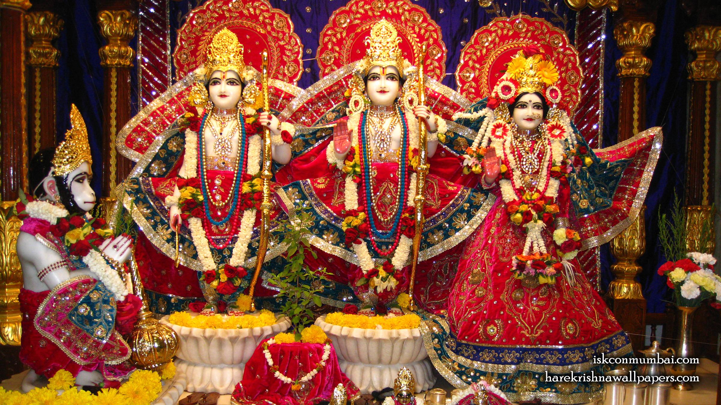 Sri Sri Sita Rama Laxman Hanuman Wallpaper (003) Size 2400x1350 Download