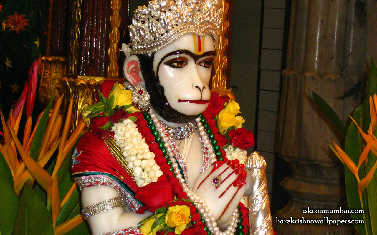 Sri Hanuman Face Wallpaper (004) Size 1280x800 Download
