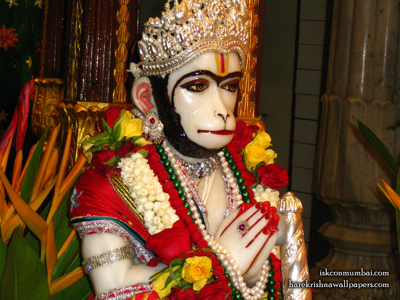Sri Hanuman Face Wallpaper (004) Size 1400x1050 Download