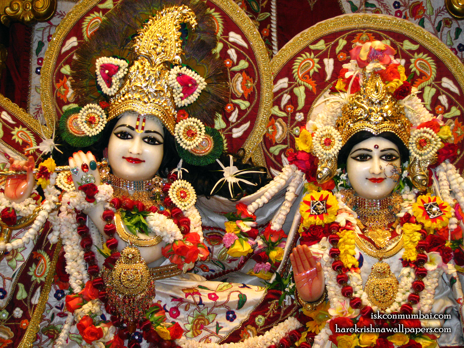 Sri Sri Radha Rasabihari Close up Wallpaper (004) Size1600x1200 Download