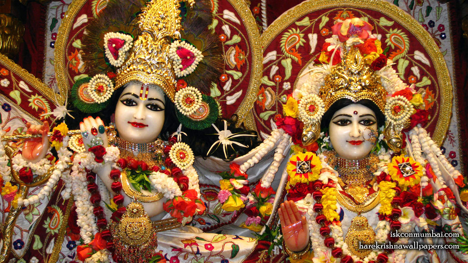 Sri Sri Radha Rasabihari Close up Wallpaper (004) Size 1600x900 Download