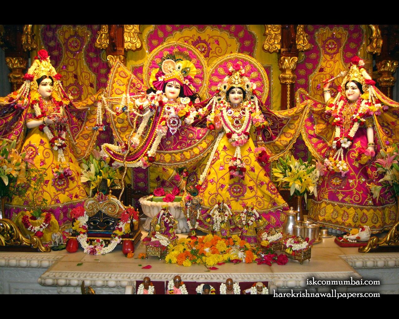 Sri Sri Radha Rasabihari Lalita Vishakha Wallpaper (004) Size 1280x1024 Download