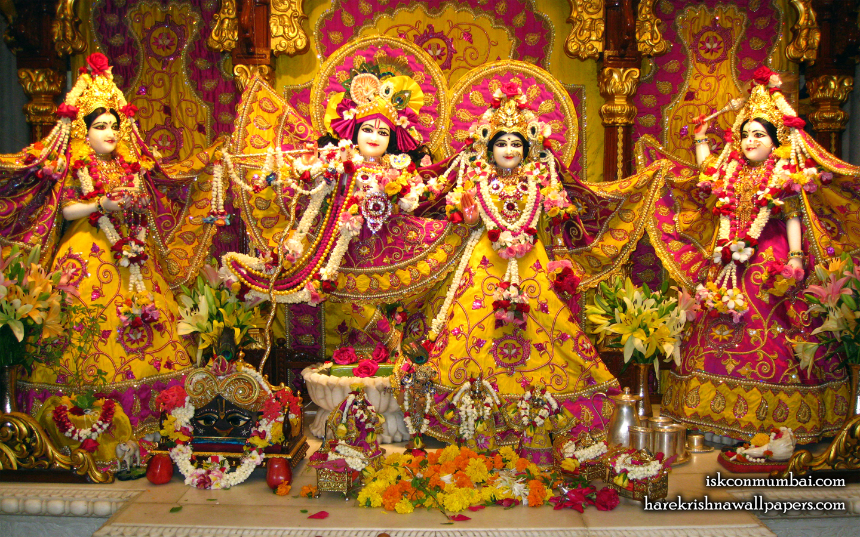 Sri Sri Radha Rasabihari Lalita Vishakha Wallpaper (004) Size 1440x900 Download