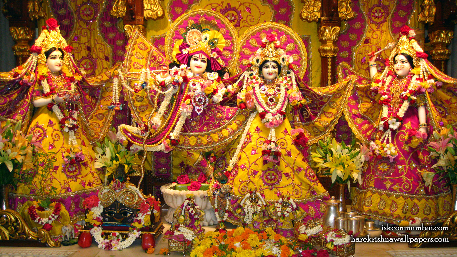 Sri Sri Radha Rasabihari Lalita Vishakha Wallpaper (004) Size 1600x900 Download