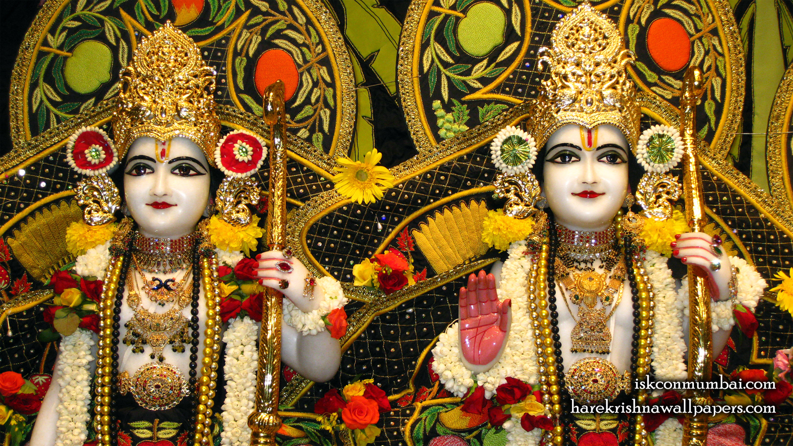 Sri Sri Rama Laxman Close up Wallpaper (004) Size 1600x900 Download