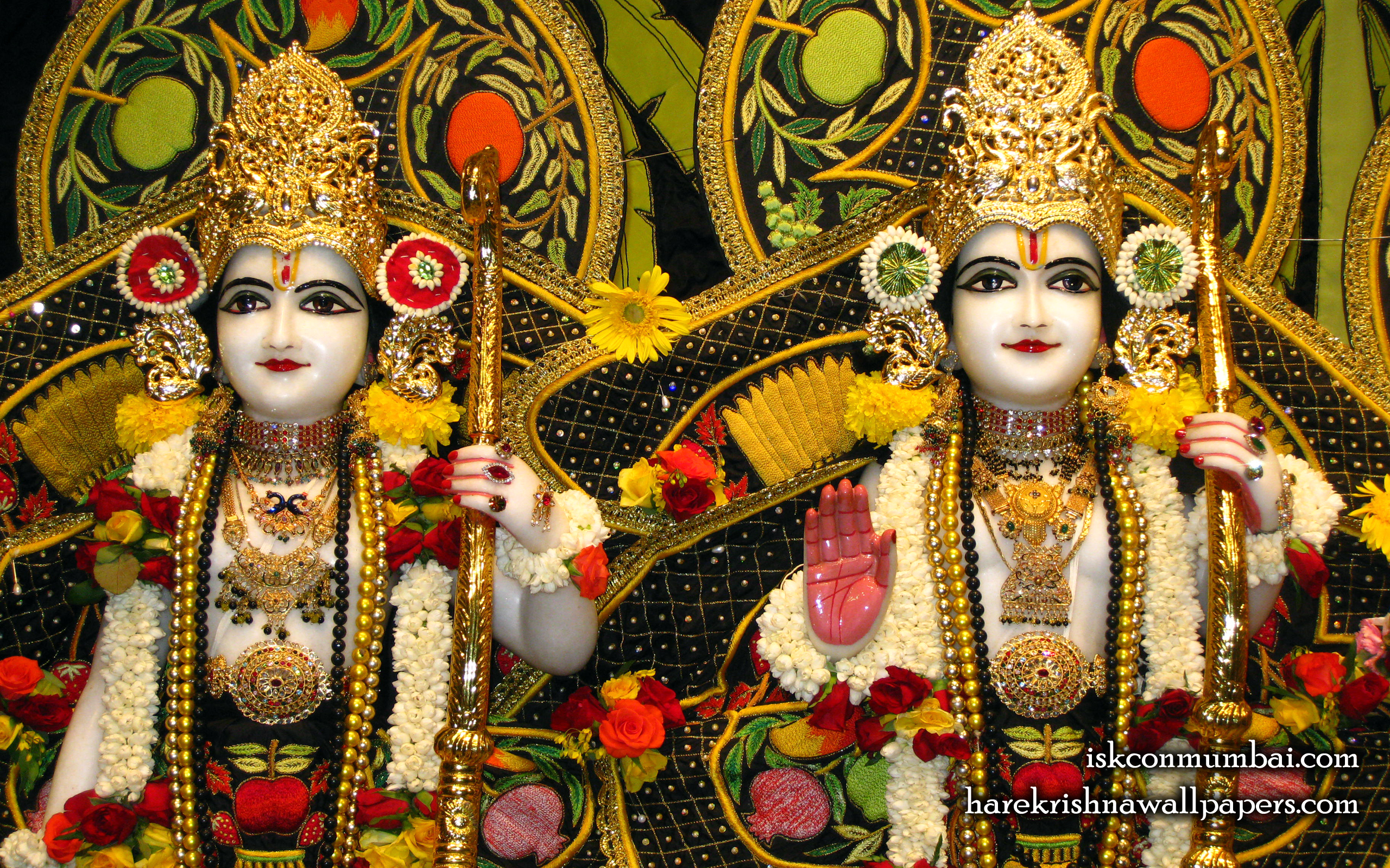 Sri Sri Rama Laxman Close up Wallpaper (004) Size 2560x1600 Download