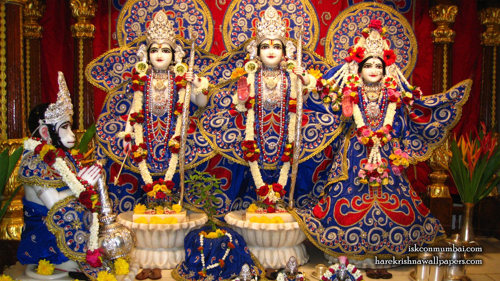 Sri Sri Sita Rama Laxman Hanuman Wallpaper (004) Size 1600x900 Download