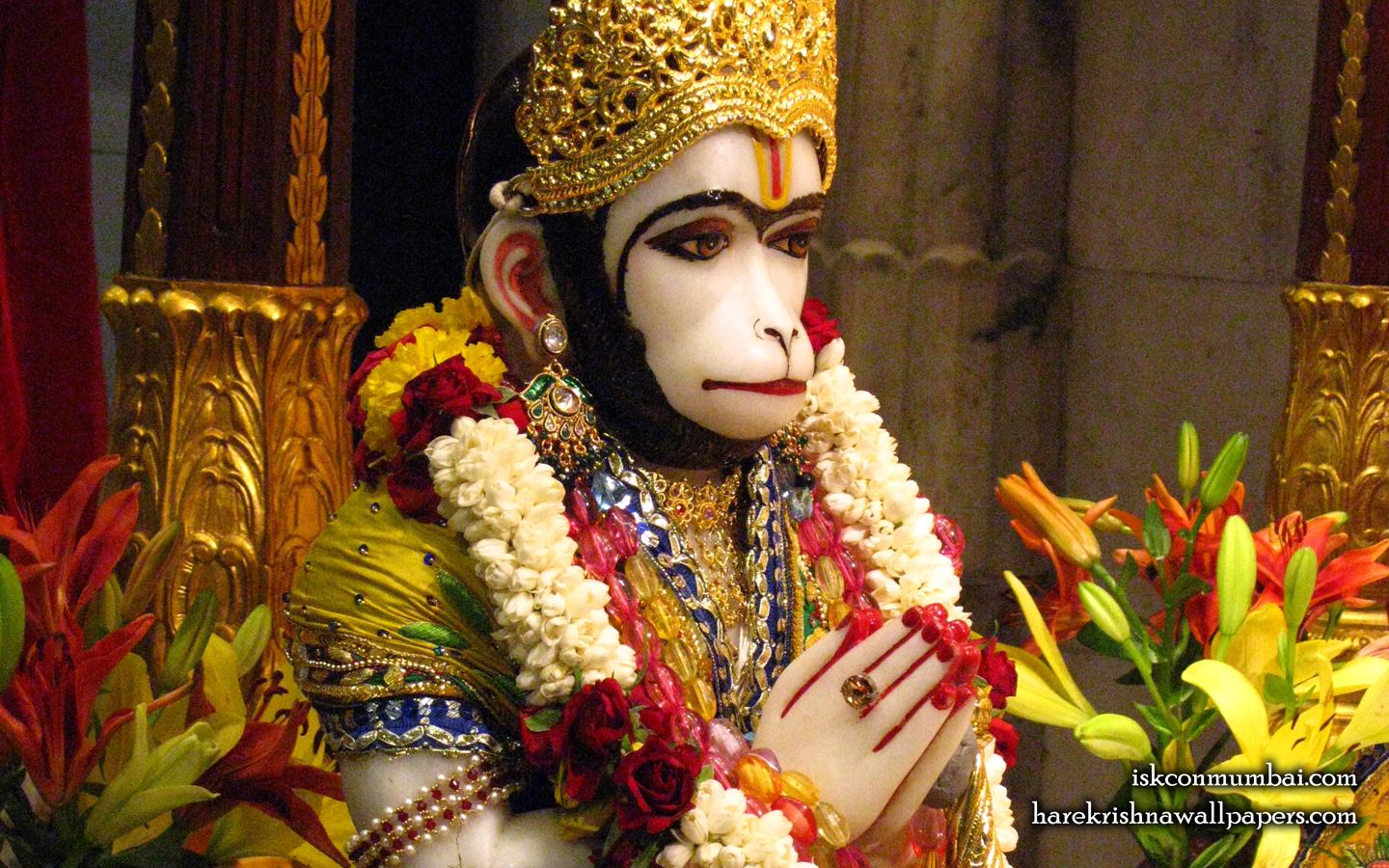 Sri Hanuman Face Wallpaper (005) Size 1440x900 Download