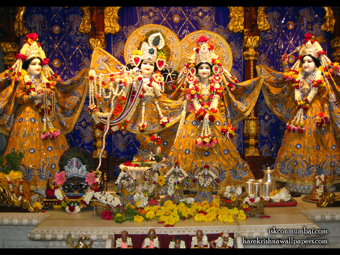 Sri Sri Radha Rasabihari Lalita Vishakha Wallpaper (005) Size 1152x864 Download