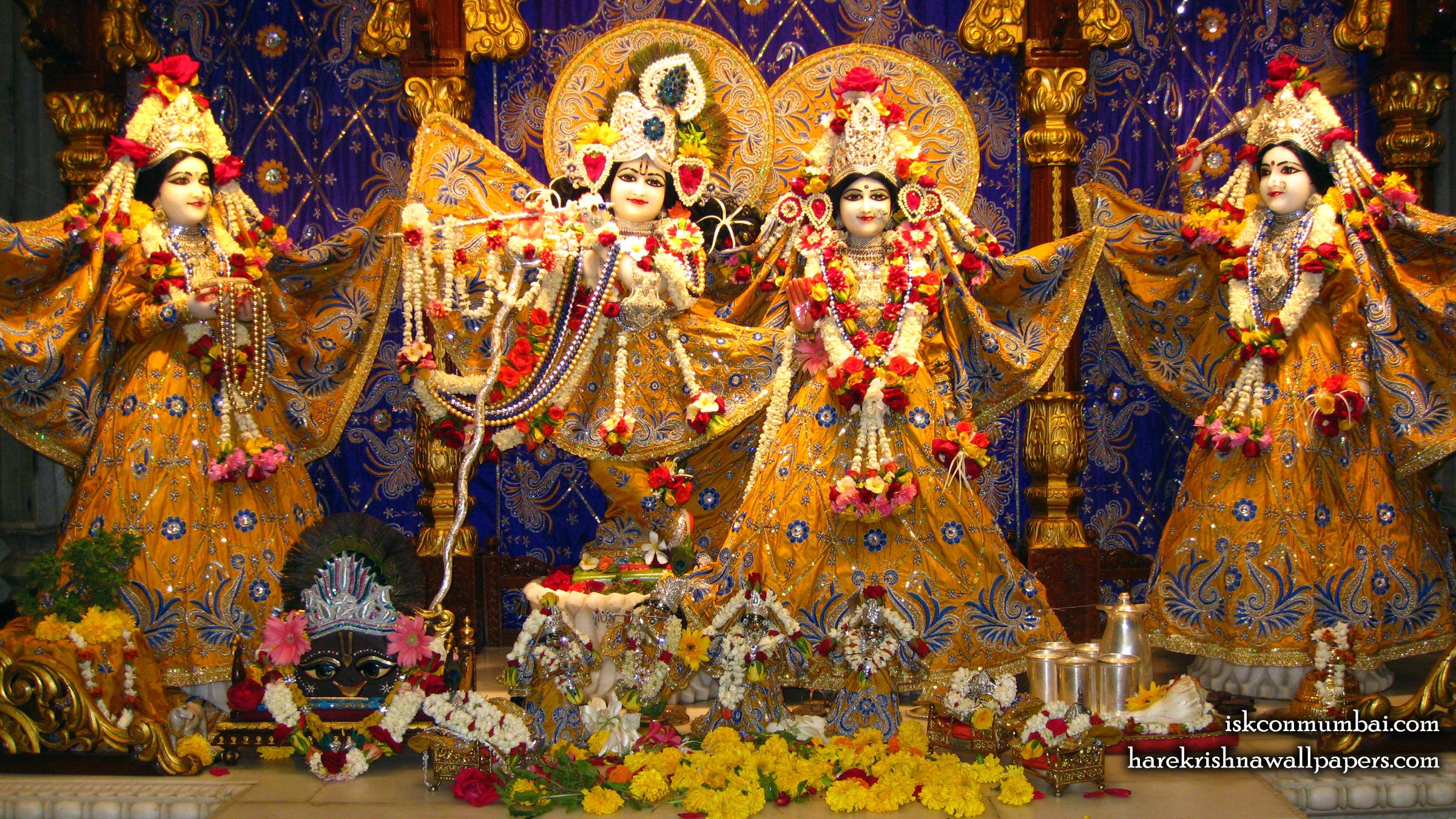 Sri Sri Radha Rasabihari Lalita Vishakha Wallpaper (005) Size 2400x1350 Download