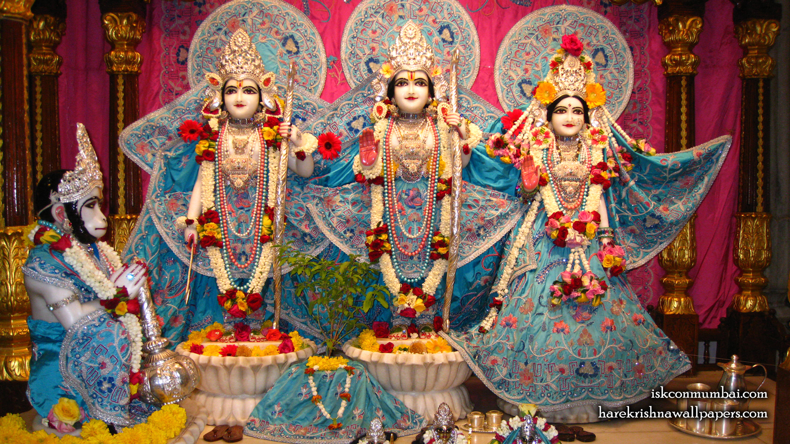 Sri Sri Sita Rama Laxman Hanuman Wallpaper (005) Size 1600x900 Download