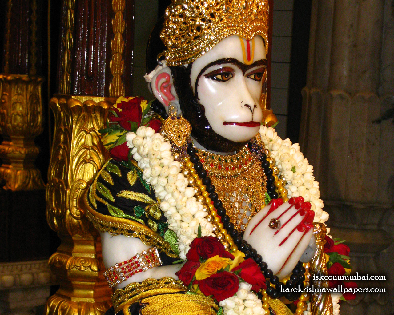 Sri Hanuman Face Wallpaper (006) Size 1280x1024 Download
