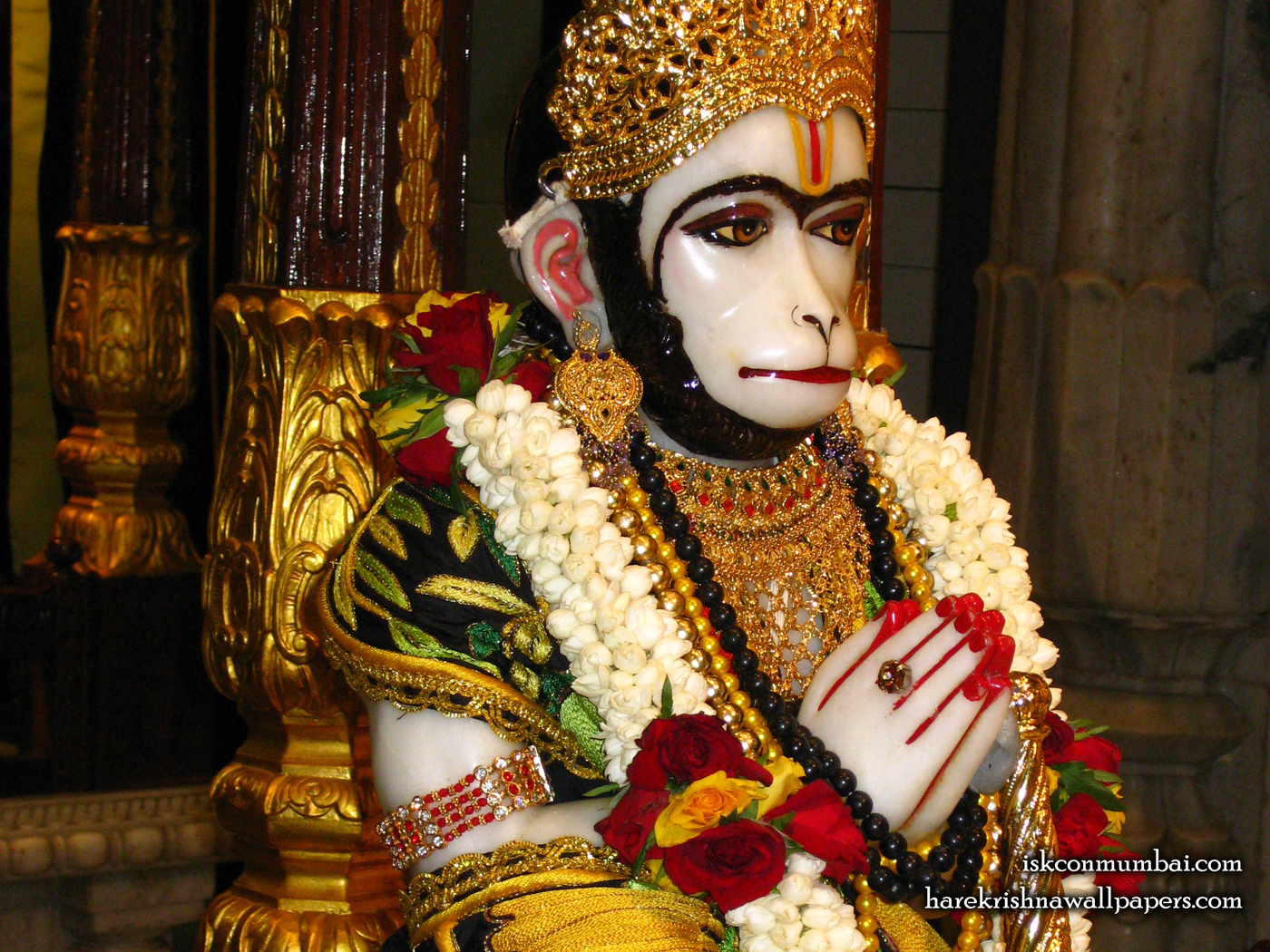 Sri Hanuman Face Wallpaper (006) Size 1400x1050 Download