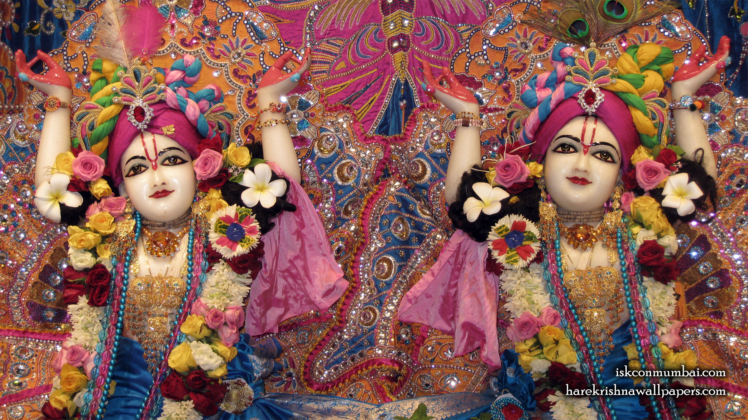 Sri Sri Gaura Nitai Close up Wallpaper (006) Size 2400x1350 Download