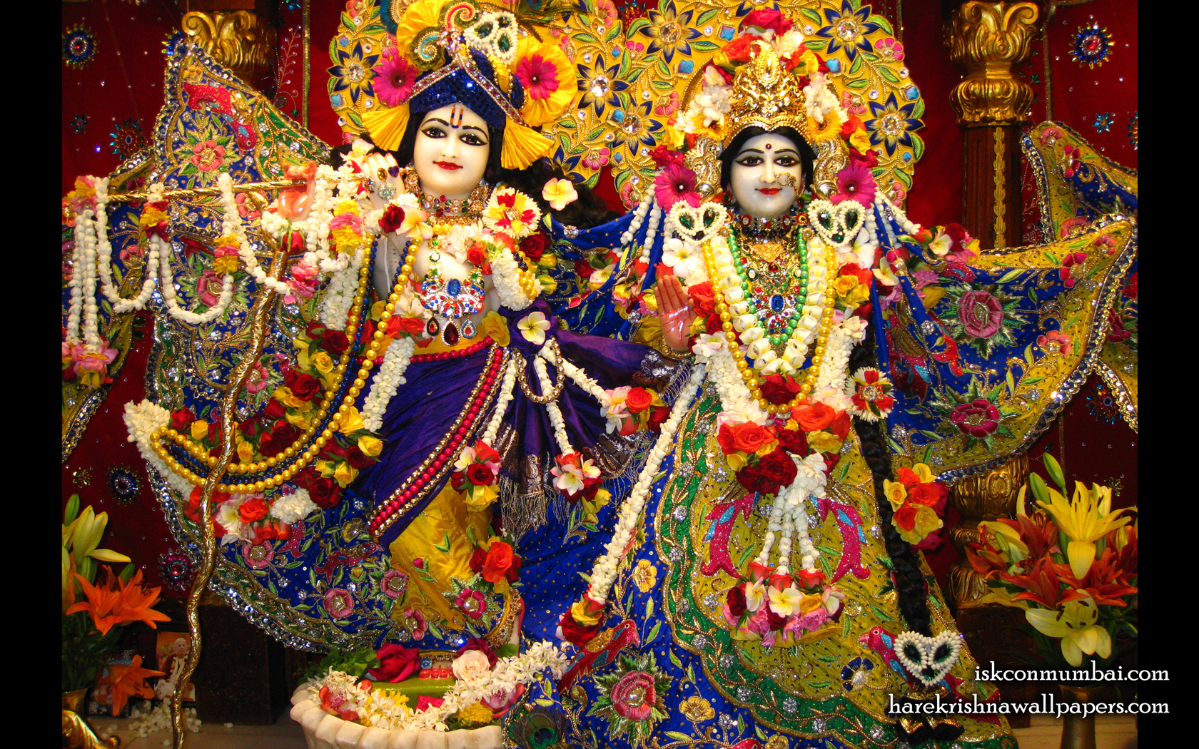Sri Sri Radha Rasabihari Wallpaper (006) Size 1680x1050 Download