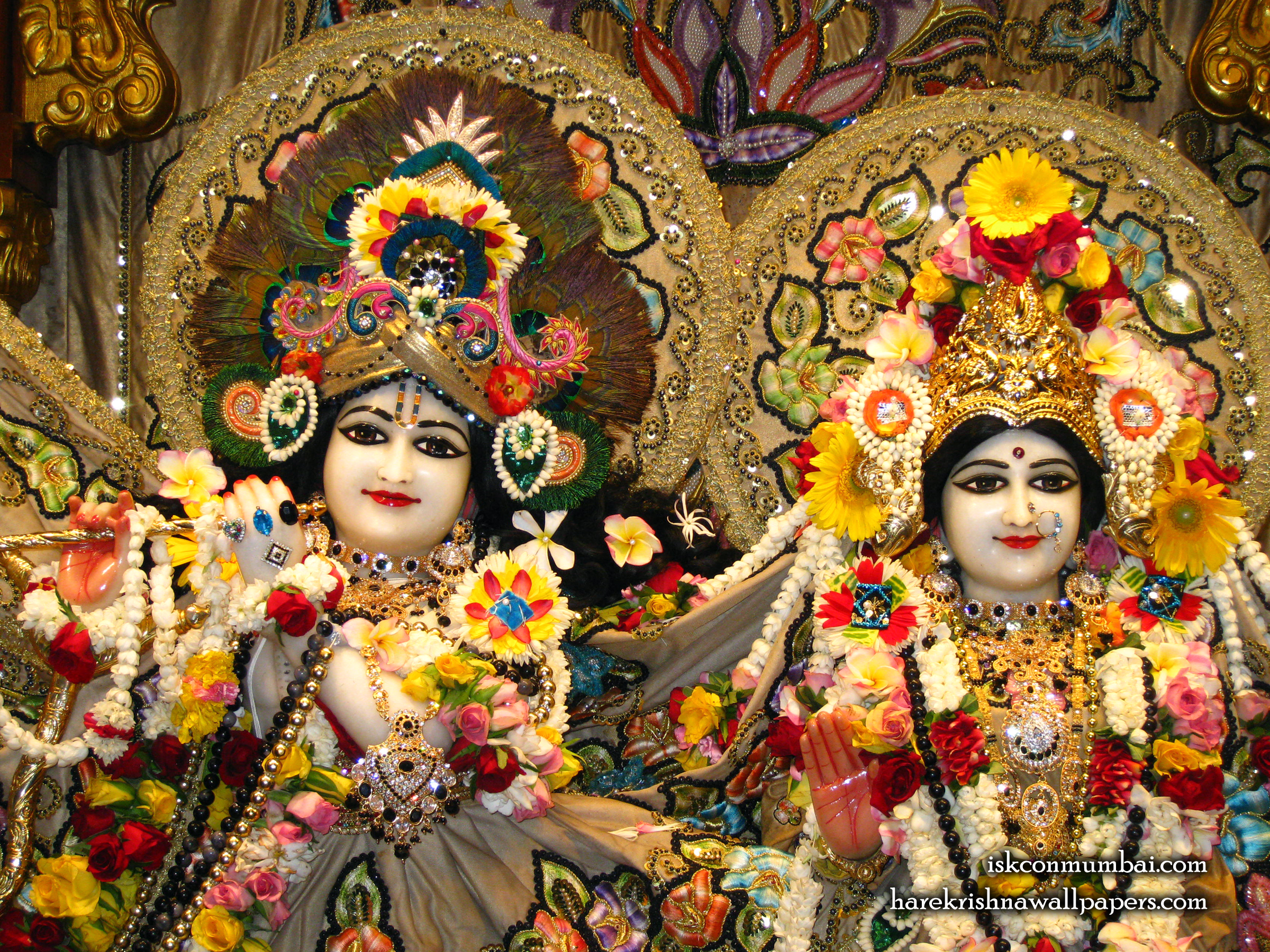 Sri Sri Radha Rasabihari Close up Wallpaper (006) Size 2400x1800 Download