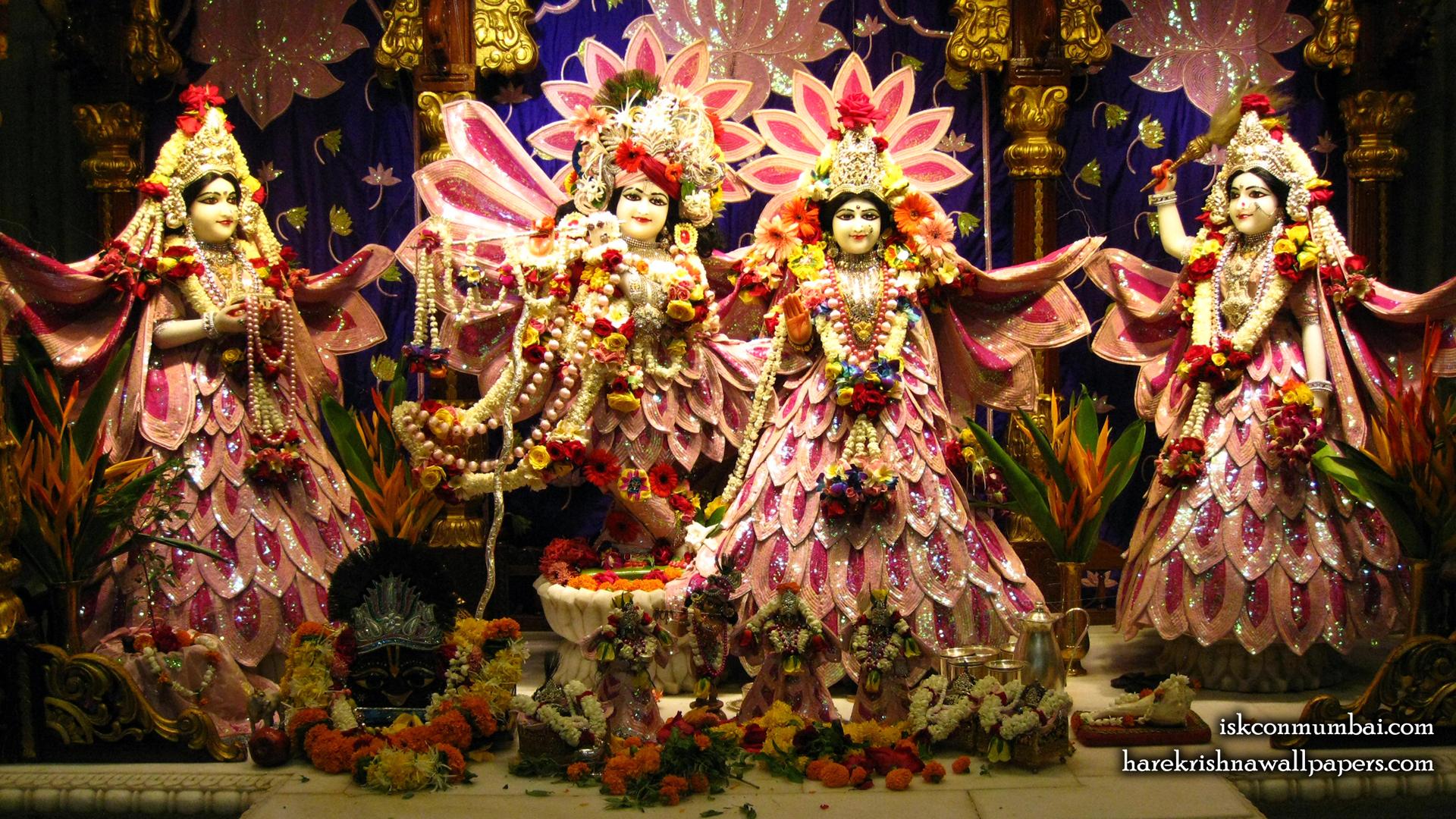 Sri Sri Radha Rasabihari Lalita Vishakha Wallpaper (006) Size 1920x1080 Download