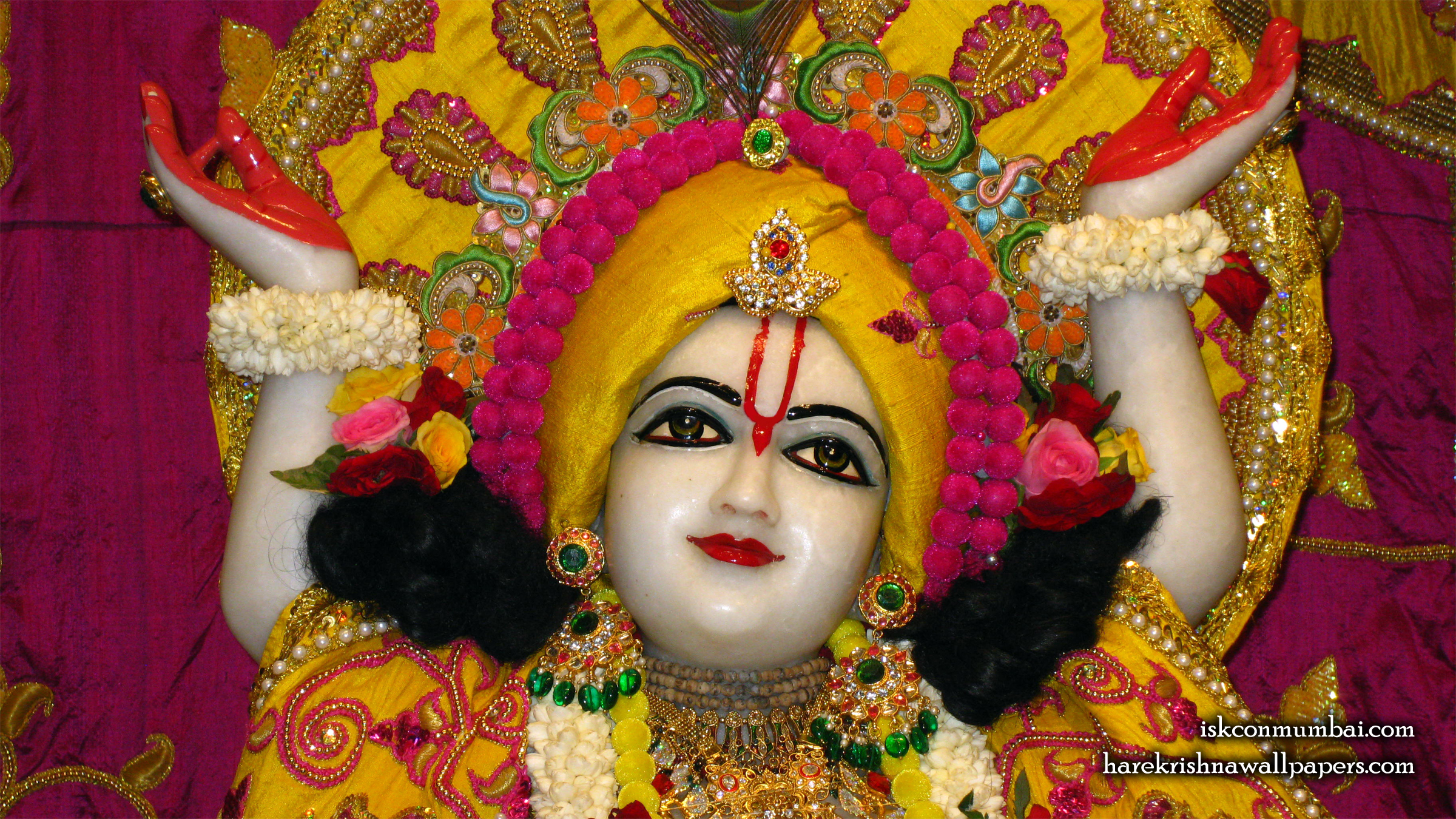 Sri Gauranga Face Wallpaper (007) Size 2400x1350 Download