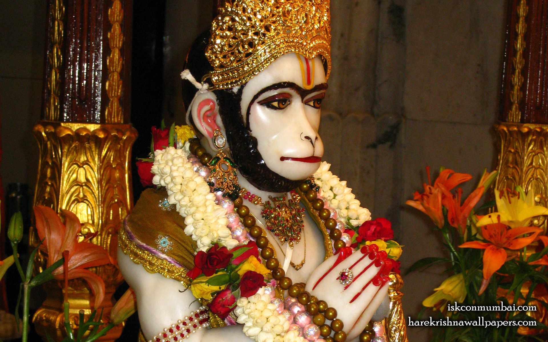 Sri Hanuman Face Wallpaper (007) Size 1920x1200 Download