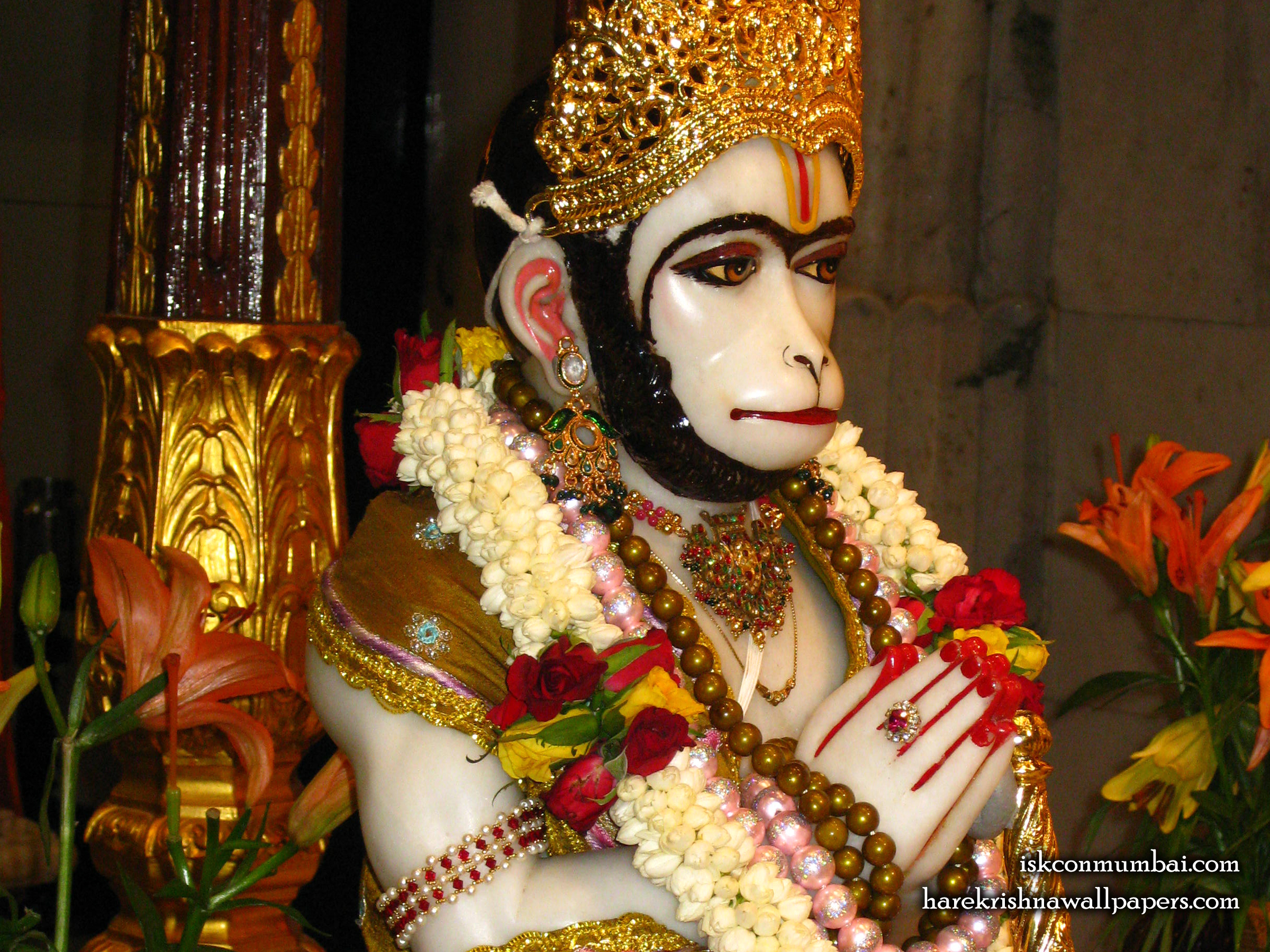 Sri Hanuman Face Wallpaper (007) Size 2400x1800 Download