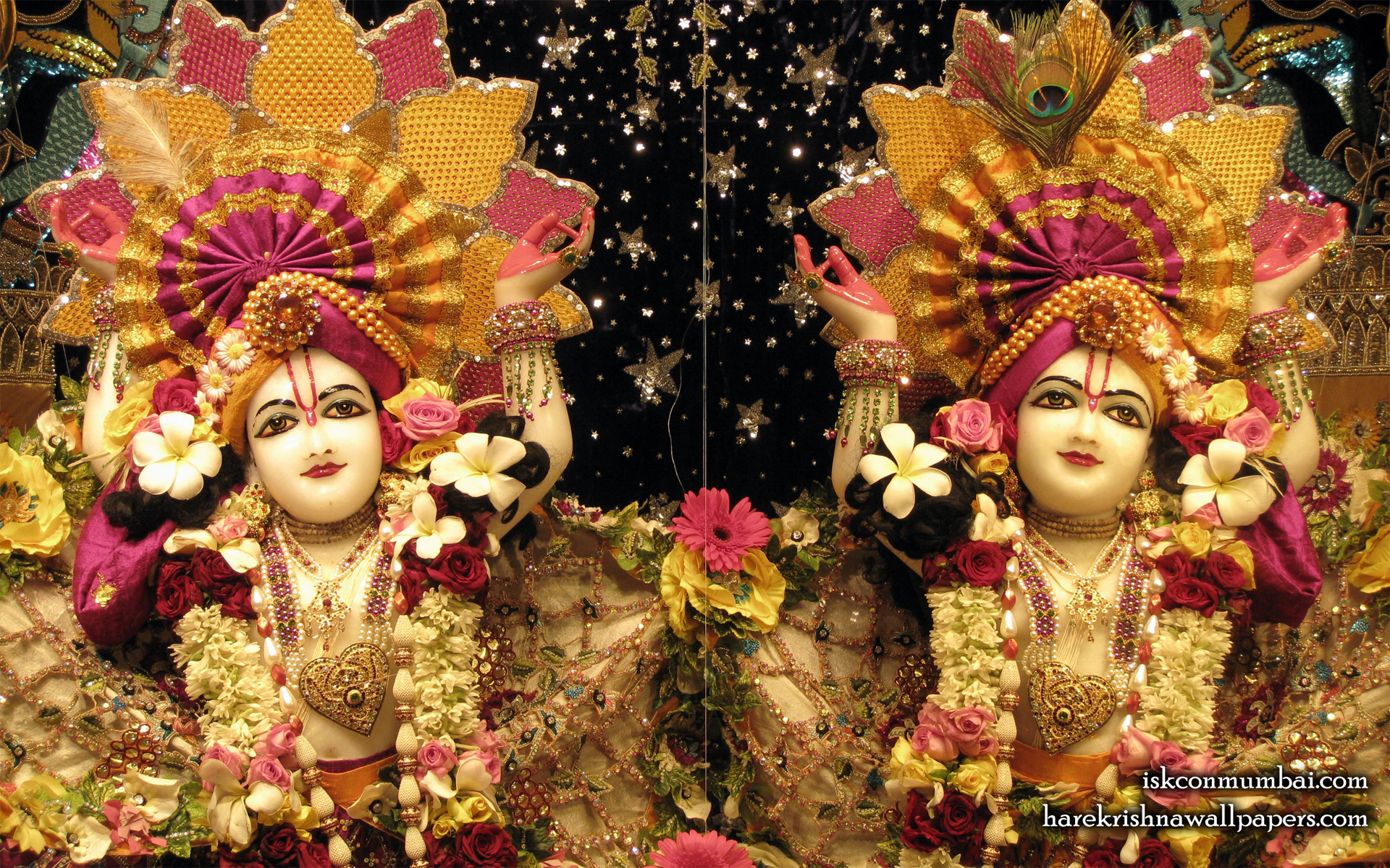 Sri Sri Gaura Nitai Close up Wallpaper (007) Size 1920x1200 Download